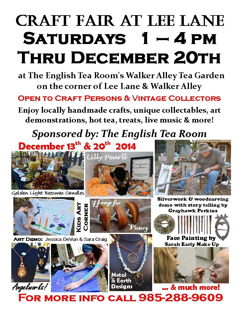 Craft Fair flier 12-13-14
