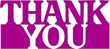 Thank-you purple