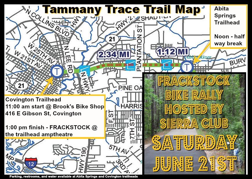 Fracking Bike Rally On The St Tammany Trace Covington To Abita
