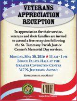 veterans day reception 2016