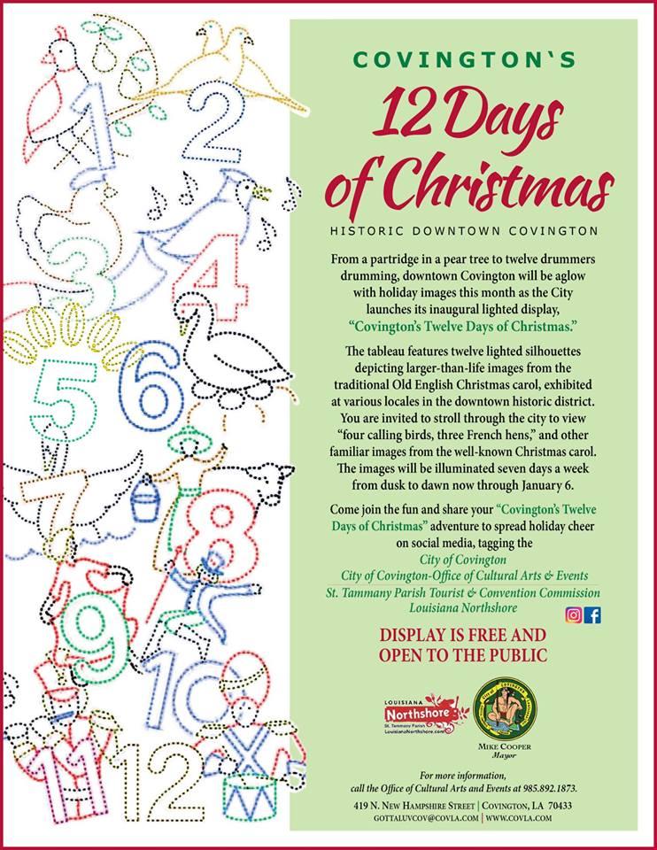 Christmas Holiday Concerts 2021 Covington La Covington S 12 Days Of Christmas Covington Weekly